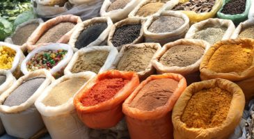 indian-spices with Turmeric Powder